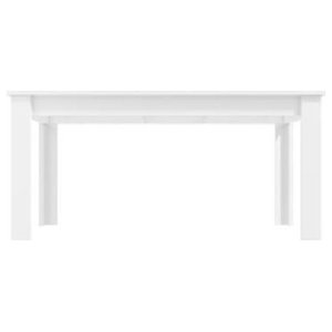 Contemporary Dining Table, White High Gloss Finished MDF, Extendable Design