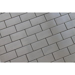 """Rocky Point Tile Co - Stainless Steel Brick Mosaic Tile, Chip Size: 2""""x4"""", 12""""x12"""" Sheet - Make a bold statement in your kitchen with a stainless steel backsplash from Rocky Point Tile. Each tile is 2""""  x 4"""" with a tight grout line. Use these tiles over an entire wall or as a slick accent in your next renovation!"""