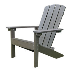 Lakeside Faux Wood Adirondack Chair, Espresso