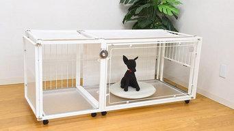 小型犬・中型犬のケージ 『6Mワイドメッシュ拡張 Wドア(観音開き)タイプ』