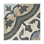 "9.75""x9.75"" Concept Porcelain Floor and Wall Tiles, Set of 16, Carthusian"