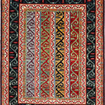 Alrug - Ziegler 3' 2″ x 4' 5″ - No. AV80527 - Very beautiful Shaal design from Pakistan. This item is shipped to the United States and Canada only. Please check our website for more items that qualify for free international shipping.This rug is New and in Perfect condition.ALRUG is renowned for its high quality, its extensive knowledge of hand-knotted carpets, and its excellent costumer relations.