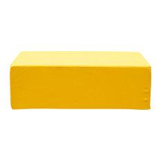 Lowboy Yellow Ottoman, Yellow