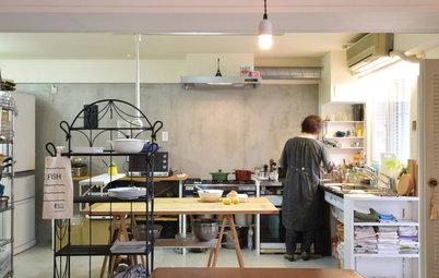 コックピット的使いやすさと自由度の高い設計。人気料理家、渡辺麻紀さんのキッチンアトリエ