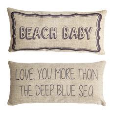 Beach Baby Coastal Style Nursery Double Sided Pillow