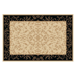 Kamira Midnight Rectangular Traditional Rug, 170x240 cm