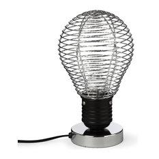 Alinéa - Bombilla Lampe à poser CHROME H25cm - Luminaire Fantaisie