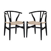 Amish Dining Armchairs, Set of 2