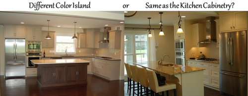 Kitchen Islands Different Or Same Color As The Kitchen Cabinetry