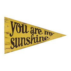 You Are My Sunshine  Wood Pennant, Antique Yellow