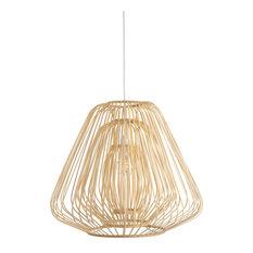 Bamboo Trinity Teadrop Pendant Lamp, Natural