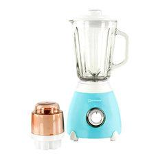 Dainty 500W Blender With 1.5 l. Glass Measuring Jug and Grinder, Light Blue