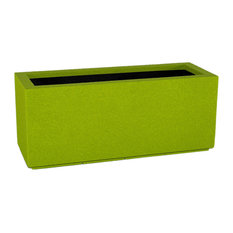Milan Tall Outdoor Trough Planter, Green