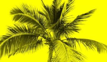 Yellow Palm Tree Art