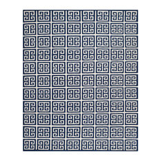 Safavieh Dhurries Collection DHU626 Rug, Navy/Ivory, 8'x10'