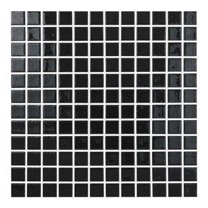 "12.5""x12.5"" Black Glass Tile"