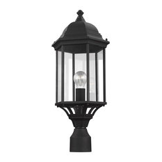 Sevier One Light Outdoor Post Lantern - Black