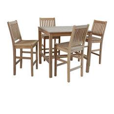 """5-Pcs. Avalon Bar Set With 43"""" Square Bar Table"""