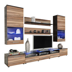 Maxima House - Cama II TV Set, Wenge and Nut Baltimor - Entertainment Centers and Tv Stands