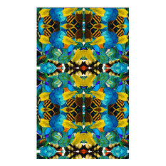 """""""Bees 'N Blues"""" Eco Canvas Upholstery Fabric"""