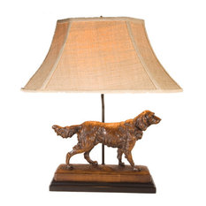 Regal Setter Dog Lamp