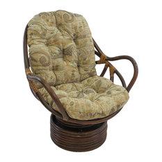 "48""x24"" Jacquard Chenille Swivel Rocker Cushion, Wind Song"
