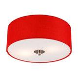 Ceiling lamp Drum 30 round red