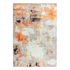 """JONATHAN Y Contemporary POP Modern Vintage Area Rug, Cream/Orange, 7'9""""'x10'"""