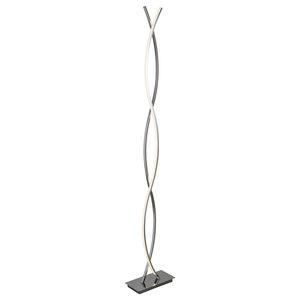 Platt LED Floor Lamp, Chrome