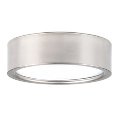 Progress Lighting   Progress Lighting Portal 1 Light Flush Mount, Brushed  Nickel, 9