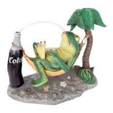 Frog On Hammock With Refreshing Cola!
