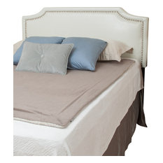 GDF Studio Forde Queen To Full Sized Ivory Leather Bed Headboard