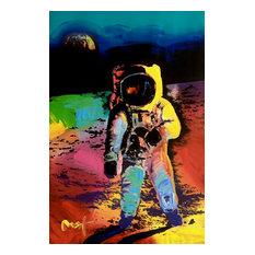 Peter Max, Moonwalk, Original Mixed Media