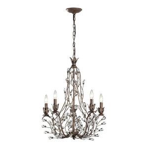 Sagemore 5-Light Chandelier, Bronze Rust