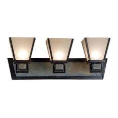 Kenroy Home 91603ORB Clean Slate Bathroom Light, Oil Rubbed Bronze