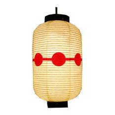 Japanese Sushi Restaurant Decoration Hanging Paper Lantern Lampshade, Beige01