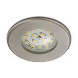 Efficient LED recessed light Nikas IP44, nickel