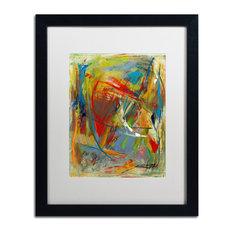 'Toy Of A Cosmic Child' Matted Framed Art, Black Frame, White Matte, 20x16