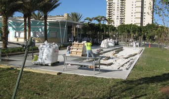 Bocce courts at Halandale Beach
