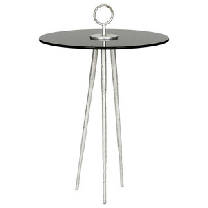 Safavieh Callie Accent Table, Silver and Black