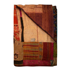 "Kantha Silk Throw 50""x70"""