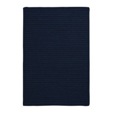 Colonial Mills, Inc - Colonial Mills Simply Home Solid H561 Navy Rug, 8x11 - Outdoor Rugs