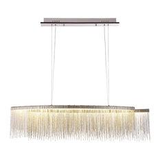 """Chain Tassel LED Chandelier By Morsale, Length 40"""""""