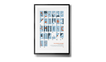 The Alpinist's Alphabet Screen Printed Poster
