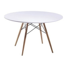 Fine Mod Imports Wood Leg Dining Table, 48""