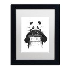 Balazs Solti 'Bad Panda' Framed Art, 11x14, Black Frame, White Mat