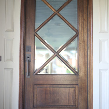 Traditional Southern Home Entry Door Details