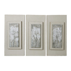 Triptych Trees Hand Painted Art, 3-Piece Set