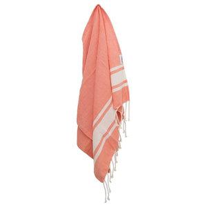 A.U. Maison Annabelle Tea Towel, Coral, Set of 4