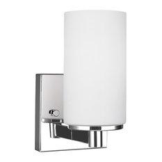 Sea Gull Lighting Hettinger 1-Light Wall/Bath Sconce, Chrome